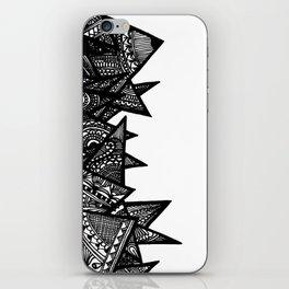 Triangle Henna Print- B+W iPhone Skin