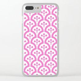 Atomic Mushroom Pink 3 Clear iPhone Case