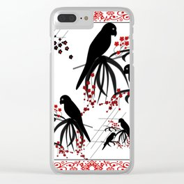 """A series of """" Favorite pillow """"Parrots 1 Clear iPhone Case"""