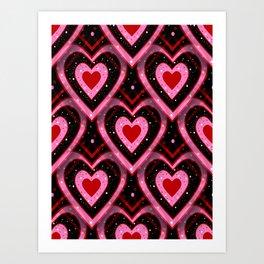 Heavenly Hearts - Happy Valentines Day Art Print