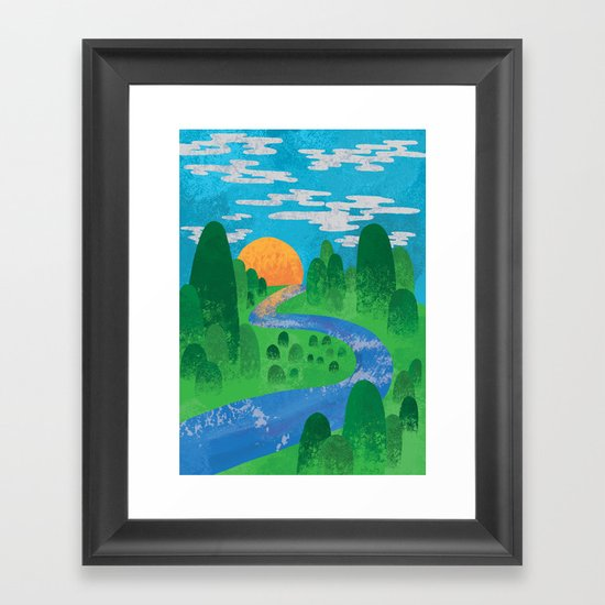 The Valley Framed Art Print
