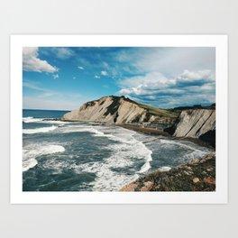 Zumaia, basque country - Travel photography Art Print