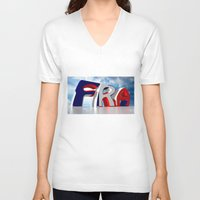 france V-neck T-shirts featuring France by Carlo Toffolo
