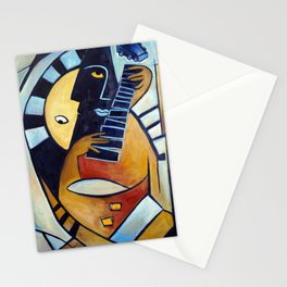 Blues Guitarist Stationery Cards