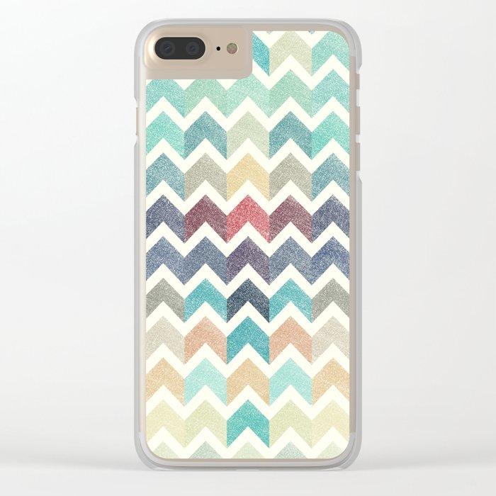 Glitter Chevron IV Clear iPhone Case