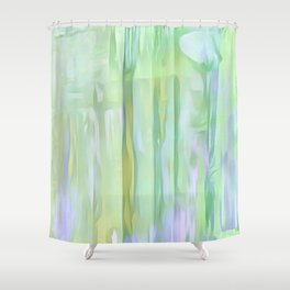 Cool Waves Of Color Abstract Shower Curtain