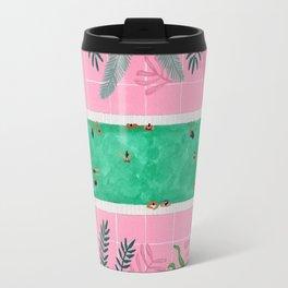 Pink riad pool Travel Mug