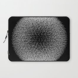 Abstract scribble circle banner. Laptop Sleeve
