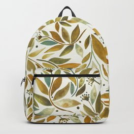 Leafy Brown Backpack