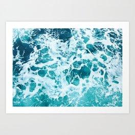 Ocean Splash IV Art Print