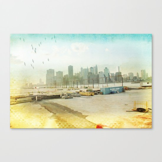 view from the docks _ new york city Canvas Print