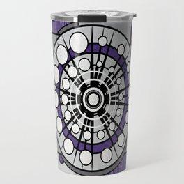 Unit 635 - Ultra Violet Geometric Digital Abstract Travel Mug
