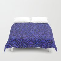 scales Duvet Covers featuring Scales by Francesca Antonet