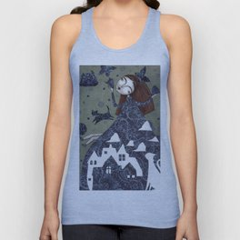 Clouds in May, Time to Play Unisex Tank Top