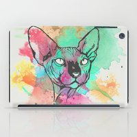 sphynx iPad Cases featuring Watercolor Sphynx by Zeke Tucker