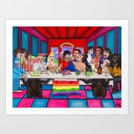 The Rockstars Last Supper Art Print