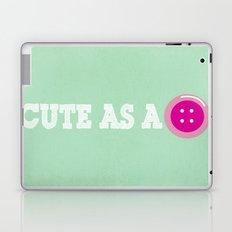 Cute as a Button Laptop & iPad Skin