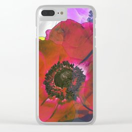 Anemone Pop Art Clear iPhone Case