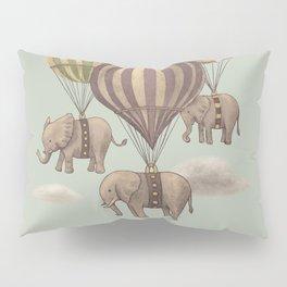 Flight of the Elephants - mint option Pillow Sham