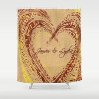 rustic Shower Curtains featuring rustic by L Step