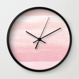 Blush Watercolor Abstract Minimalism #1 #minimal #painting #decor #art #society6 Wall Clock