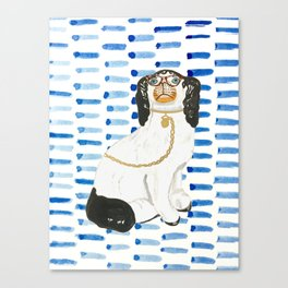 BESPECTACLED on BLUE Canvas Print