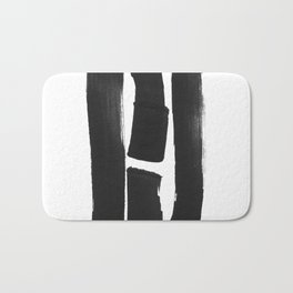 Four Lines Abstract Ink Painting Bath Mat