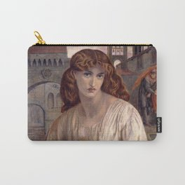 Dante Gabriel Rossetti - Salutation of Beatrice, 1880 Carry-All Pouch