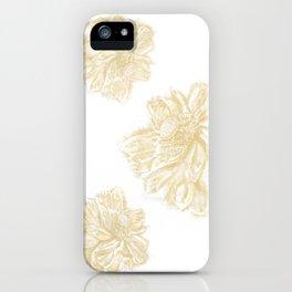 Golden Lotus offset iPhone Case