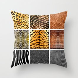 Exotic Quilt Throw Pillow