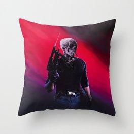 Cobra Skeleton Throw Pillow