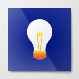 Pop Bulb Metal Print