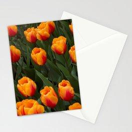 Tulip Garden Landscape in Golden Yellow Stationery Cards