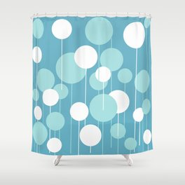 Float - Blue & White Shower Curtain