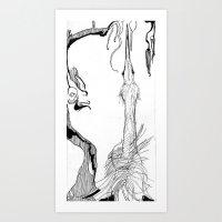 Pointy Bird Art Print