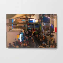 Crowd in the Mall Metal Print