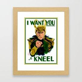 Loki wants you Framed Art Print