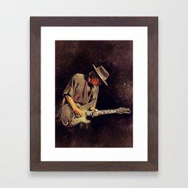 Stevie Ray Vaughan, Music Legend Framed Art Print