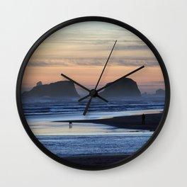 Cannon Beach Oregon Wall Clock