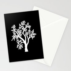 Solo Tree White on Black Stationery Cards