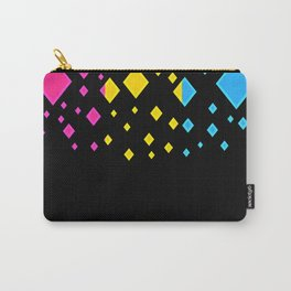 Pansexual Pride Flag Falling Diamonds on Black Carry-All Pouch