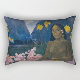 Paul Gauguin - Te aa no areois (The Seed of the Areoi) Rectangular Pillow