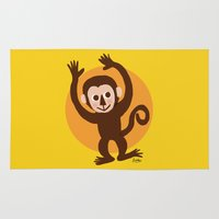 monkey Area & Throw Rugs featuring Monkey by BATKEI