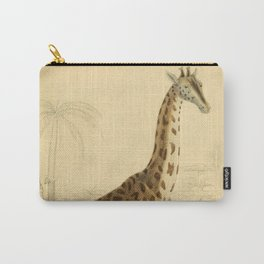 Giraffe Vintage Wildlife Illustration Carry-All Pouch