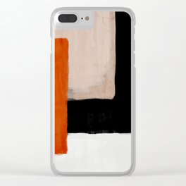 abstract minimal 14 Clear iPhone Case