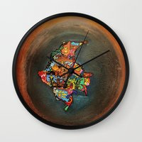colombia Wall Clocks featuring Colombia Tierra Querida by MikAnsart