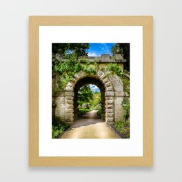 Archway, Chatsworth House. Framed Art Print