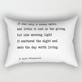 It was only a sunny smile Rectangular Pillow