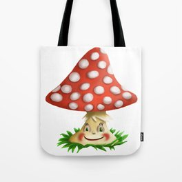 Happy Fly Agaric Tote Bag