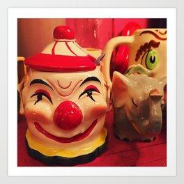 Creepy Clown Cup Art Print